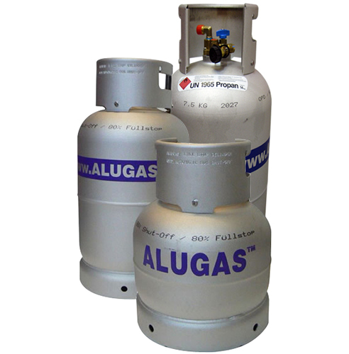 11kg lightweight Alugas bottle, with filling gauge