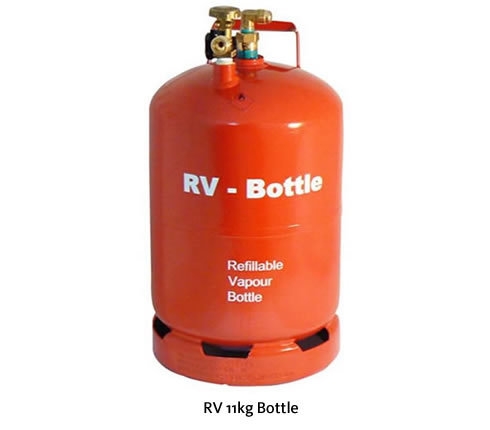 RV two hole refillable steel leisure gas cylinders